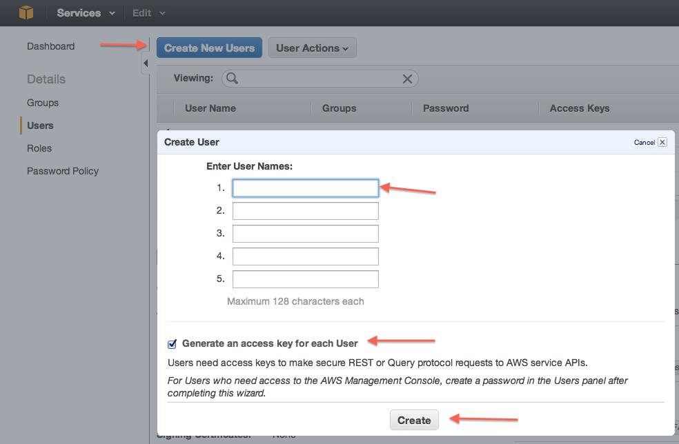 How to find your Amazon key & secret – Server Density